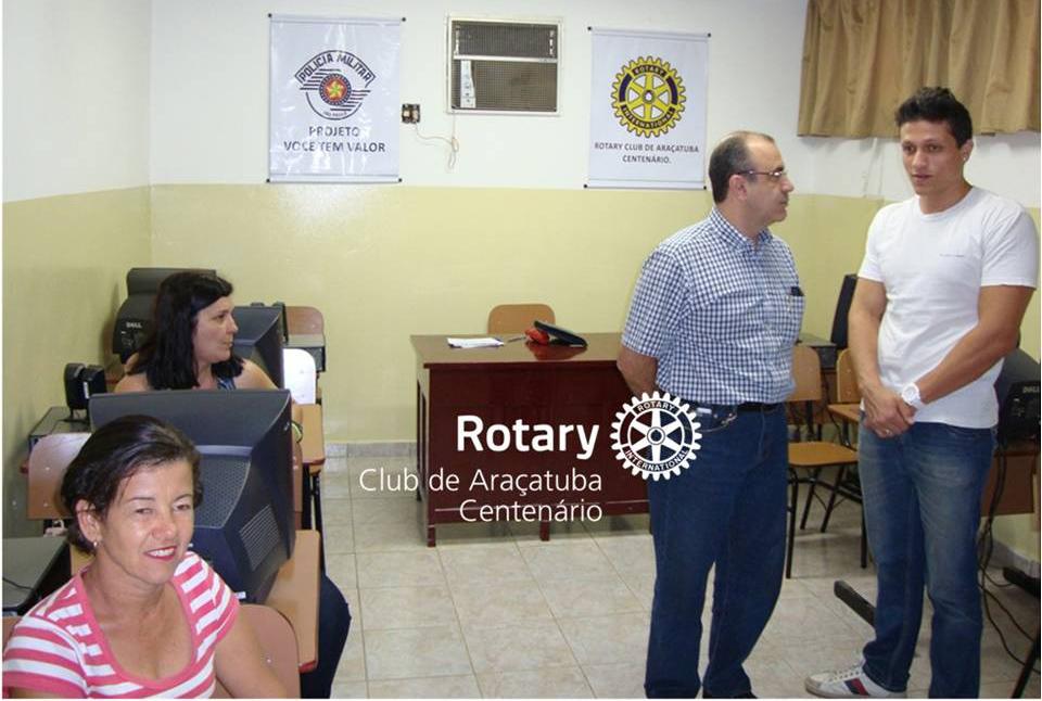 Criação da Sala de Informática para aulas na Base Comunitária do Jussara