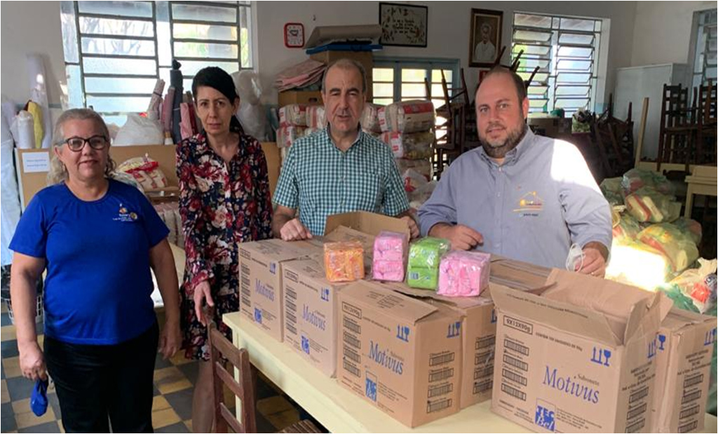 Doação de 1.500 sabonetes para a Instituição Nosso Lar - Casa da Sopa