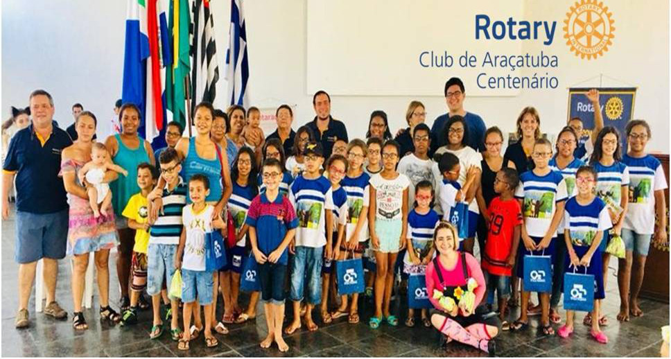 Doação de consulta oftalmológica e óculos para 76 crianças carentes de Araçatuba