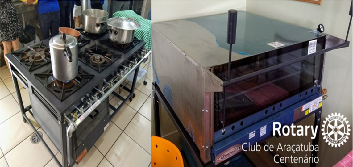 Doação de equipamento de cozinha para o Lar São João