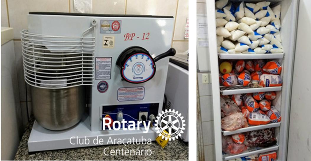 Doação de equipamentos de cozinha para o Lar São João