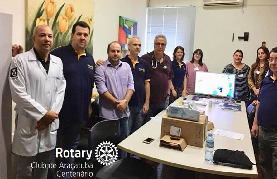 Doação de equipamentos para a UTI neonatal da Santa Casa