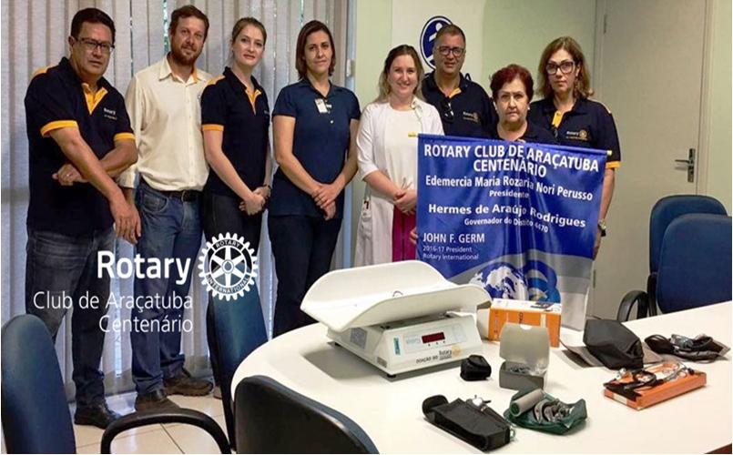 Doação de equipamentos para a ala pediátrica do CTO da Santa Casa