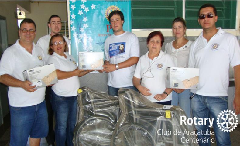 Doação de equipamentos para o Asilo São Vicente de Paulo