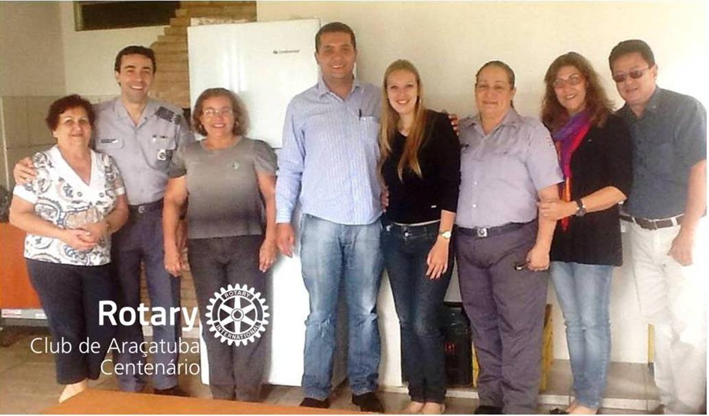 Doação de geladeira e bebedouro elétrico para a Base Comunitária do Jussara