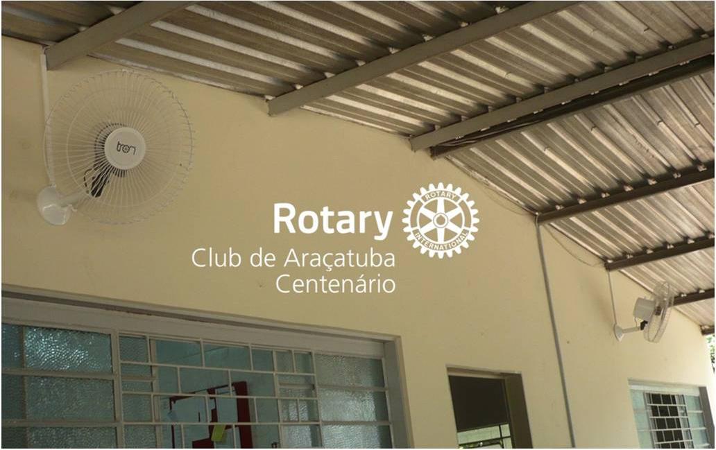 Doação e instalação de ventiladores de parede no Asilo São Vicente de Paulo
